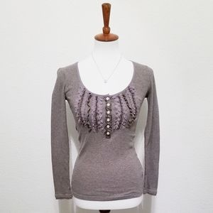 Banana Republic Fitted Light Sweater Front Rushing